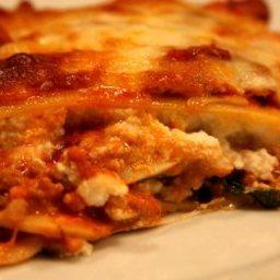 Steve's Mushroom, Spinach and Ground Turkey Lasagna