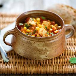 Stewed Tofu with Corn and Tomatoes
