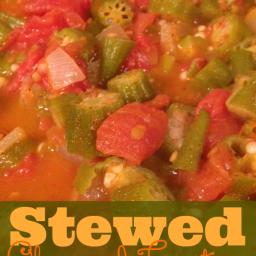 Stewed Tomatoes with Okra Recipe #GlutenFree