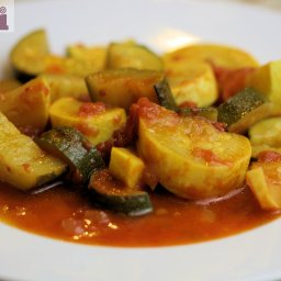 Stewed Zucchini, Mexican-style (Calabacitas guisadas Molli)