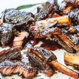Sticky Irish whiskey short ribs
