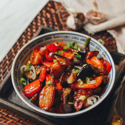 Stir-fried Eggplant, Potatoes and Peppers (Di San Xian - 地三鲜)