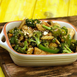 Stir- Fried Paneer, Broccoli and Baby Corn