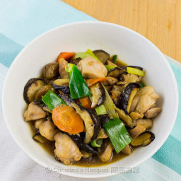 Stir Fried Shiitake Mushroom with Chicken Recipe
