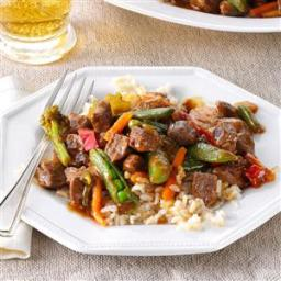 Stir-Fried Steak and Veggies Recipe
