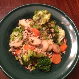 Stir Fry Vegetables with Brown Rice