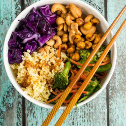 Stir Fry Zen Crunch Bowl (Vegan, Gluten Free)