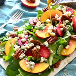 Stone Fruit Salad with Pecans and Blue Cheese