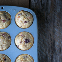 Stone Fruit Yogurt Muffins