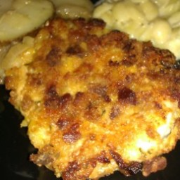 Stove Top Coated Baked Pork Chops