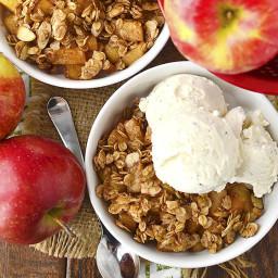 Stovetop Apple Crisp for Two