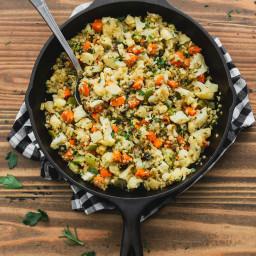 Stovetop Cauliflower Rice Stuffing