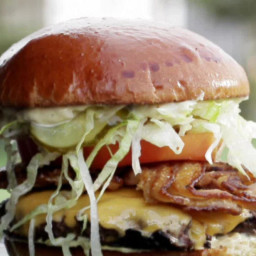 Straight-Up with a Pig Patty Burger