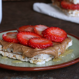 Strawberry Almond Butter Snackwich