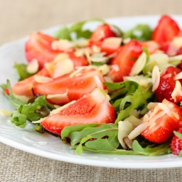 Strawberry Almond Mixed Greens Salad