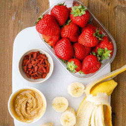 Strawberry Banana Smoothie for a Quick Breakfast or Healthy Treat