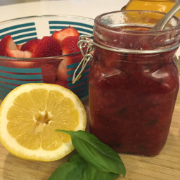 Strawberry Basil Jam - Clean Eating