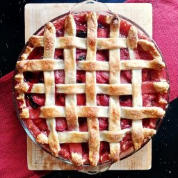 Strawberry, Basil & Lemon Pie