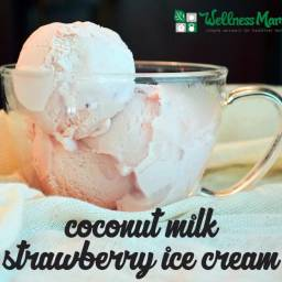 Strawberry Coconut Milk Ice Cream Recipe