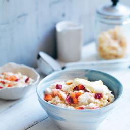 Strawberry coconut porridge