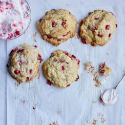 Strawberry Crème Fraîche Biscuits