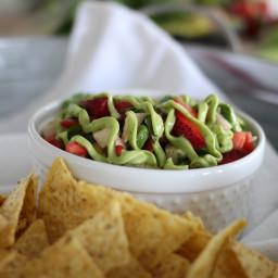 Strawberry, Jicama and Lime Guacamole