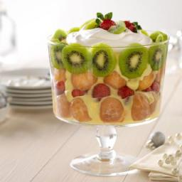 Strawberry-Kiwi Holiday Trifle