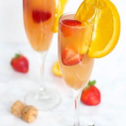 Strawberry Kombucha Mimosa
