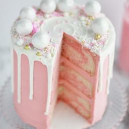 Strawberry Malt Cake