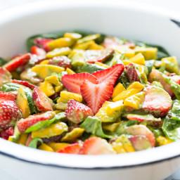 Strawberry Mango Spinach Salad