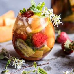 Strawberry Melon Elderflower Pimms Cup