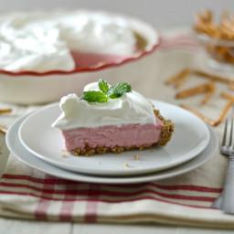 Strawberry Mousse Pretzel Pie
