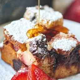 Strawberry Nutella French Toast Casserole