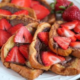 Strawberry Nutella French Toast