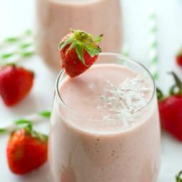 Strawberry Piña Colada Protein Smoothie