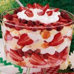 Strawberry Raspberry Trifle