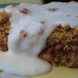 Strawberry Rhubarb Crumble Dessert