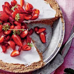 Strawberry-Rhubarb Pretzel Pie Recipe