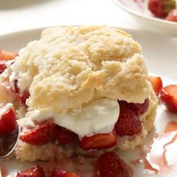 Strawberry Shortcake With Buttermilk Biscuits