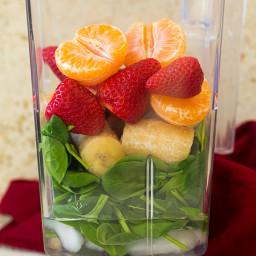 Strawberry Spinach Green Smoothie