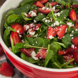 Strawberry Spinach Salad with Balsamic and Feta
