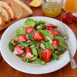 Strawberry Spinach Salad with Lemon Vinaigrette