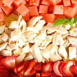 Strawberry Watermelon Chicken Salad