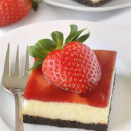 Strawberry White Chocolate Cheesecake Bars