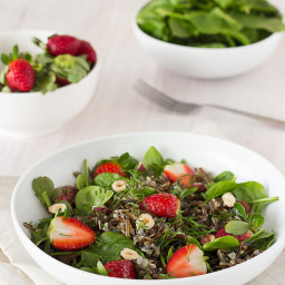 Strawberry + Wild Rice Salad