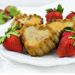 Strawberry Yogurt Muffins for Valentine's Day