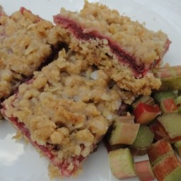 Strawberry Rhubarb Dessert Bars