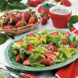 Strawberry Romaine Salad Recipe