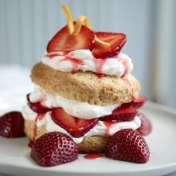 Strawberry Shortcake with Orange Whipped Cream