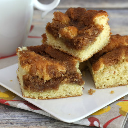 Streusel Coffee Cake with Cinnamon Crumb Topping